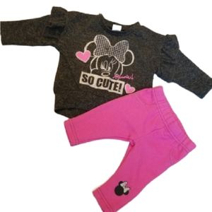 Minnie Mouse two piece Set 0-3m
